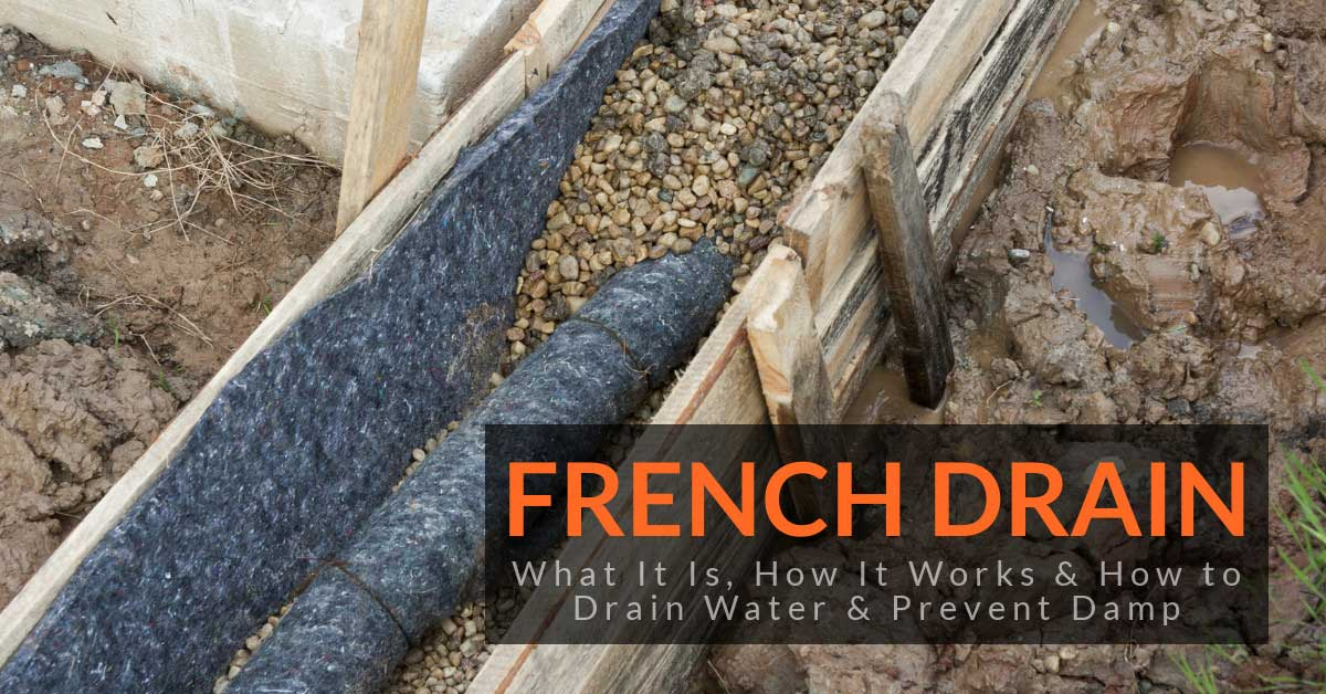 French Drain What It Is How It Works How To Drain Water Prevent Damp