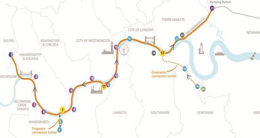 thames tideway tunnel map