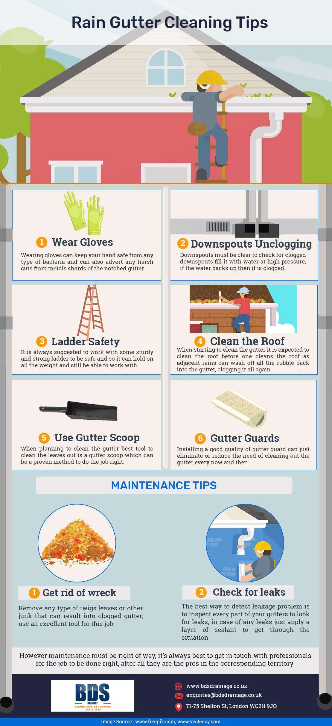 Rain Gutter Cleaning Tips