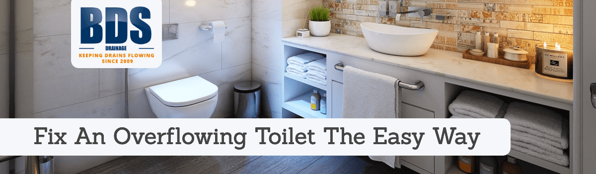 Fix an overflowing toilet the easyway