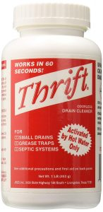 Thrift T-600 Alkaline Drain Cleaner
